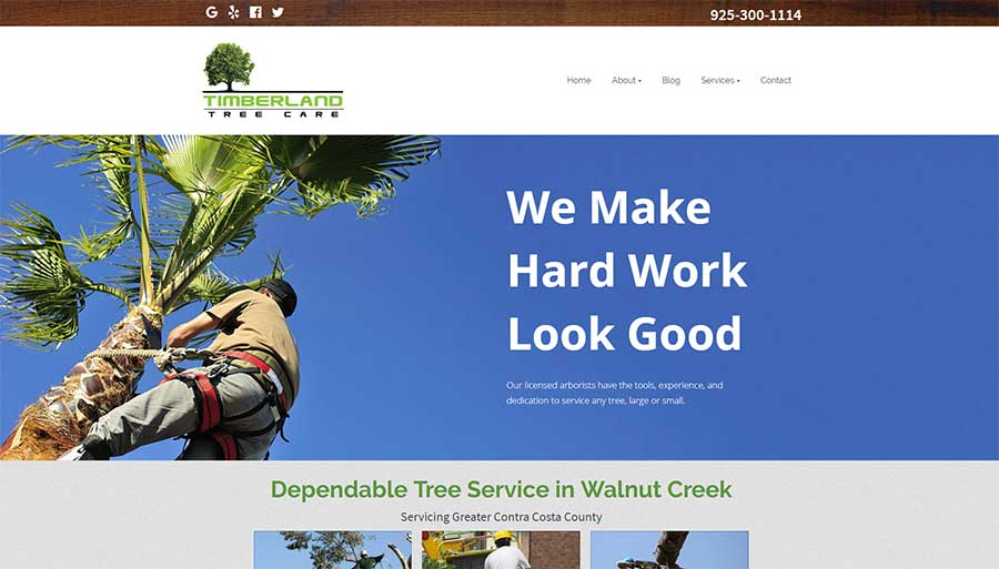 Timberland Tree Care, SEO and website by Contractor Calls