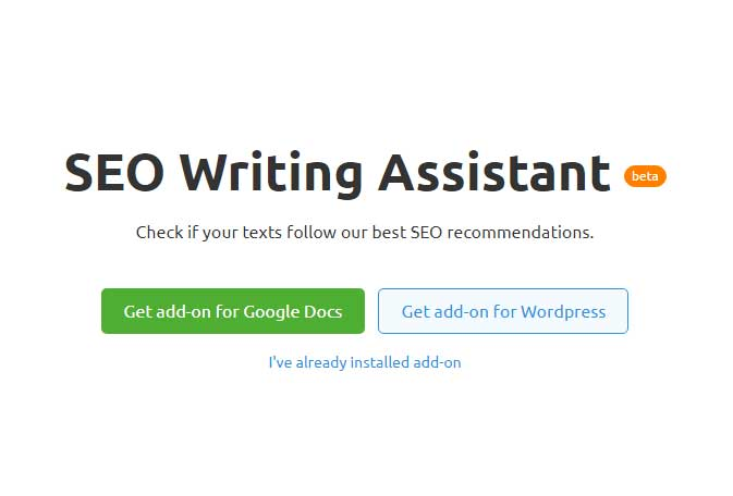 SEMrush SEO writing assistant review