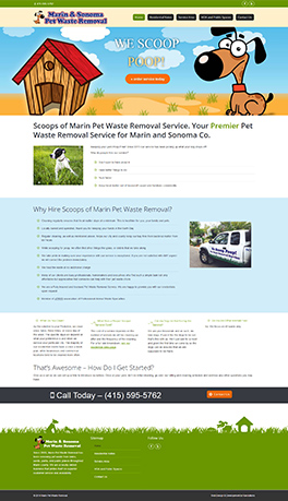 website for Marin Pet Waste Removal