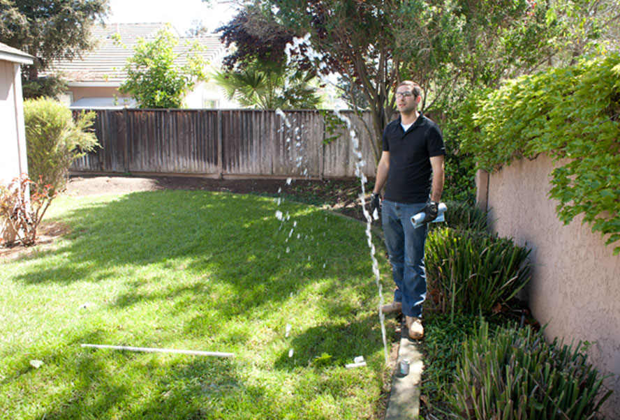 SEO and sprinkler repair: irrigation contractor handles a job generated by an SEO campaign