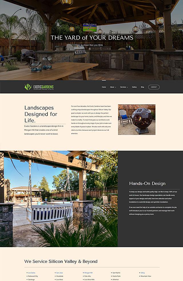 Exotic Gardens - landscape design in Morgan Hill