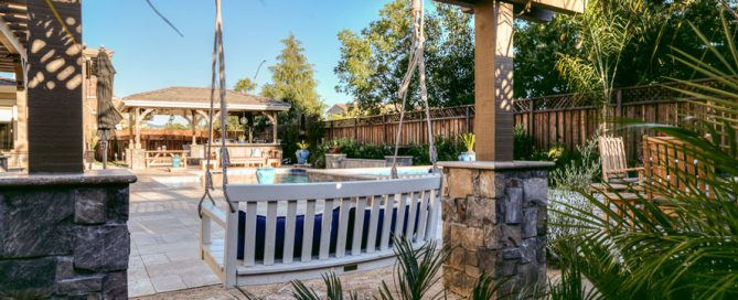 Pool swing installed by landscape design and build agency
